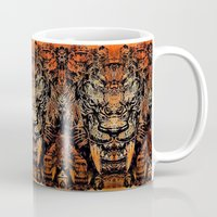 tooth Mugs featuring Saber Tooth by Zandonai