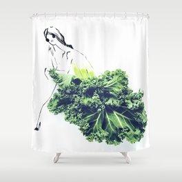 Edible Ensembles: Kale Shower Curtain