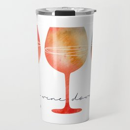 Time to Wine Down Watercolour Travel Mug