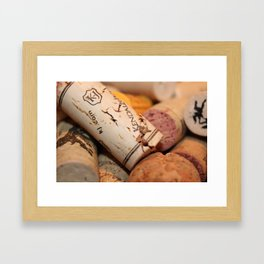 Wine not? Framed Art Print