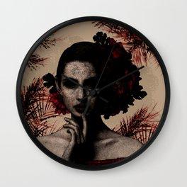 Scarlet Deception Wall Clock