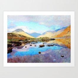 """""""Enough Blue Sky"""" Derwentwater Reflections, Lake District, UK Art Print"""