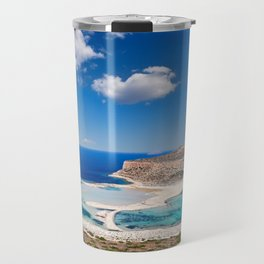 The unbelievable beauty of Balos Lagoon with Cap Tigani in Crete, Greece Travel Mug