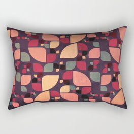 Vintage Butterflies Pattern Rectangular Pillow