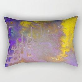 Blue & Yellow Rectangular Pillow
