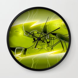 Lightning Dogs Never Turn Tail by Tony Baldini Wall Clock