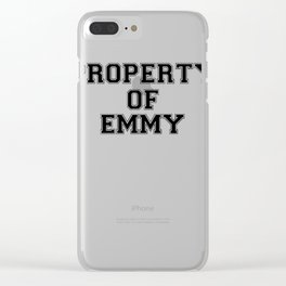 Property of EMMY Clear iPhone Case