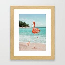 WANNABE FLAMINGO Framed Art Print