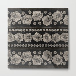 Vintage Floral with Golden Accents #2 Metal Print