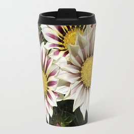 Zany Gazania - red and white stripes Travel Mug