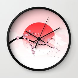 Cherry Blossoms - Pink Wall Clock