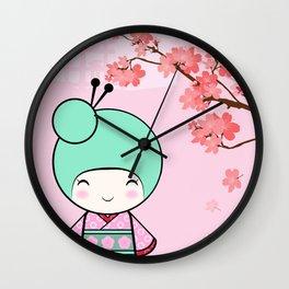 Kokeshi doll - Sakura Wall Clock
