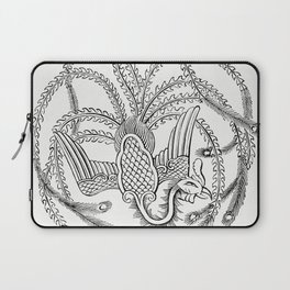 Character Drawing of a Peacock (1862) from Gazette Des Beaux-Arts a French art review Laptop Sleeve