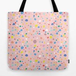 Postmodern Granite Terrazzo Large Scale in Pink Multi Tote Bag