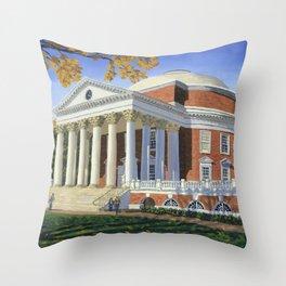 The Rotunda, UVA Throw Pillow