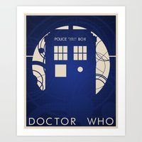 doctor who Art Prints featuring Doctor Who by LukeMorgan