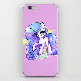 Pastel Rainbow Unicorn with Glitter Mascara Overload iPhone Skin