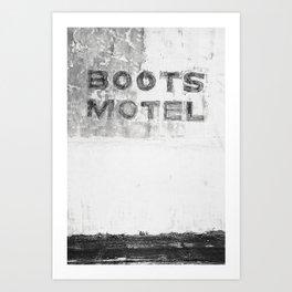 Boots Motel Art Print