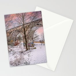 DE - Baden-Württemberg : Evening mood at the Viaduct Laupheim Stationery Cards