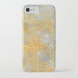 gold arabesque vintage geometric pattern iPhone Case