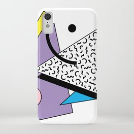 Memphis pattern 56 - 80s / 90s Retro iPhone Case