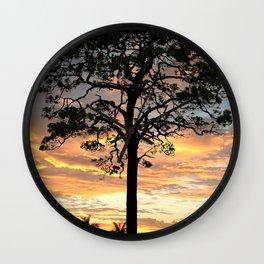 Florida Pine Tree Wall Clock