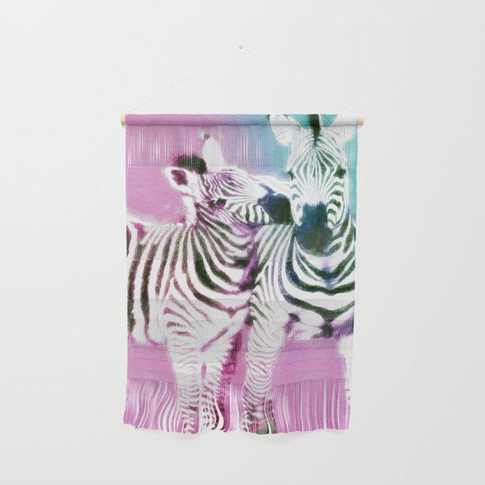 Zebra Kisses Wall Hanging