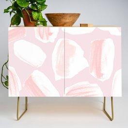 Brushstrokes Pattern Pink Credenza