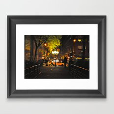 Nocturnal Union Square Framed Art Print