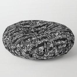 Hand Written Sheet Music // Black Floor Pillow
