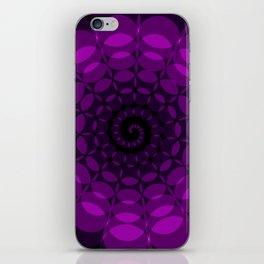 complex purple spiral iPhone Skin