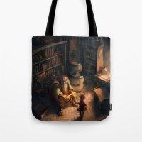 sword Tote Bags featuring Cursed Sword by Dani Diez