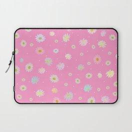 Hand drawn pastel daisies pink Laptop Sleeve