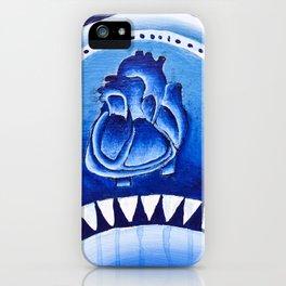 Blue Heart iPhone Case