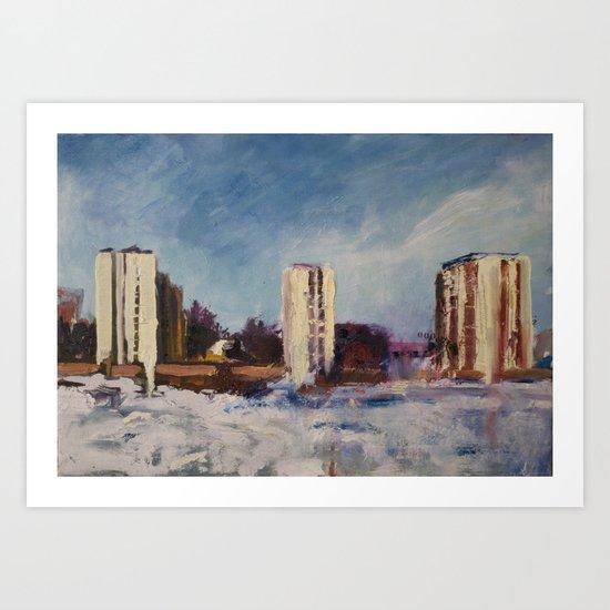 Borlänge - Sweden Art Print