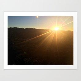 Calistoga Sunrise Art Print