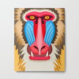 Baboon Head Metal Print