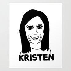 Kristen Wiig Art Print