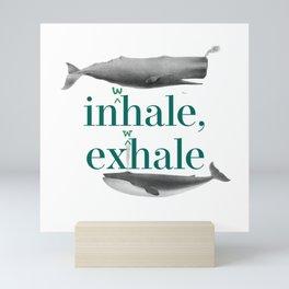 In(w)hale, ex(w)hale Mini Art Print