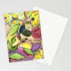 Flower Swirls Stationery Cards