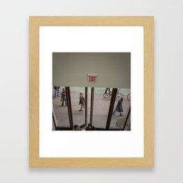 Exit Framed Art Print