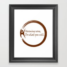 Harming None,Do What You Wil Framed Art Print