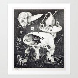M. C. ESCHER - HELL (AFTER HIERONYMOUS BOSCH) Art Print