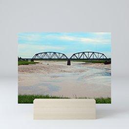 Low Tide at the Sackville Train Bridge Mini Art Print