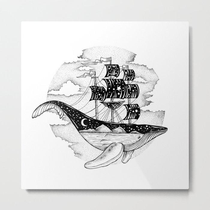 WHALESHIP Metal Print
