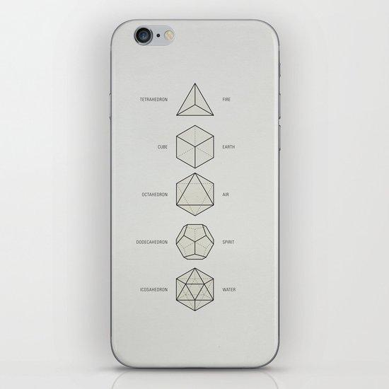 The Platonic Solids iPhone Skin