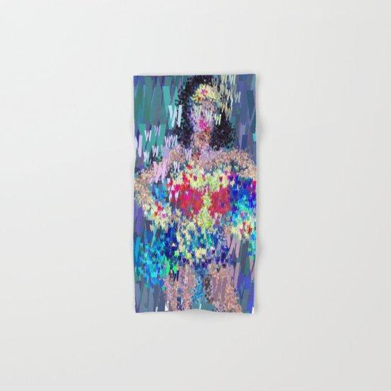 Wonder Type Woman - Abstract Pop Art Comic Hand & Bath Towel
