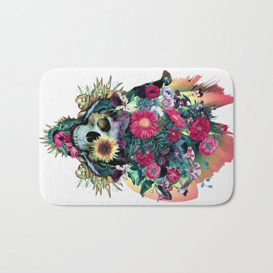 Floral Skull Vivid V Bath Mat