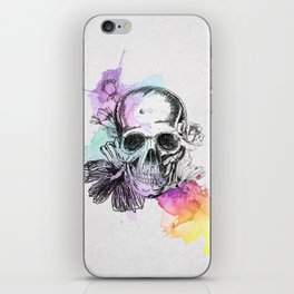 Skull flowers iPhone Skin