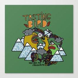 Tasting Bird Canvas Print